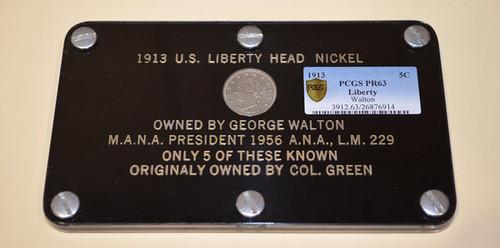 Walton 1913 Liberty Nickel in holder