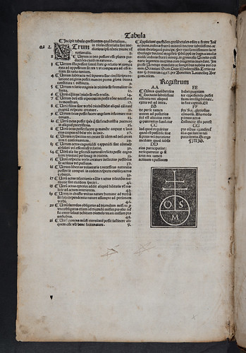 Colophon and printer's device in Duns Scotus, Johannes: Quodlibeta