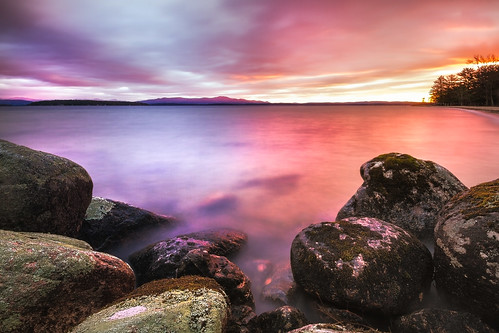 lake water sunrise rocks day cloudy shoreline newhampshire shore gilford lakewinnipesaukee ellacoyastatebeach robertallanclifford cliffordphotographynhcom