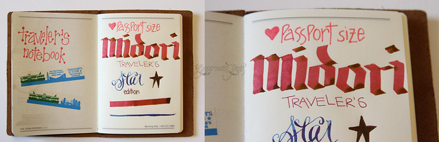 Midori Notebook Writing Sample Flat