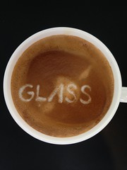 Today's latte, Google Glass.