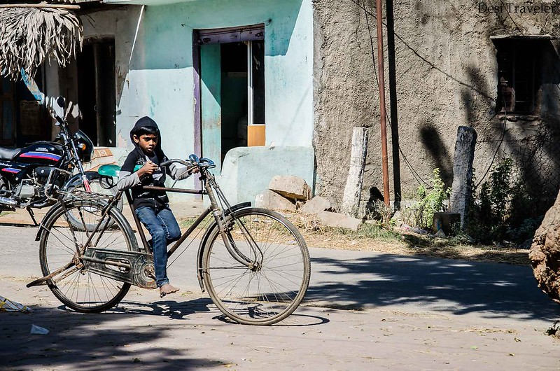 cycling vacations in india a boy riding a cycle in style