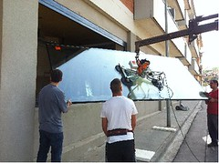 Vidre de conductivitat tèrmica instal·lat a les finestres d'Espai Zero.