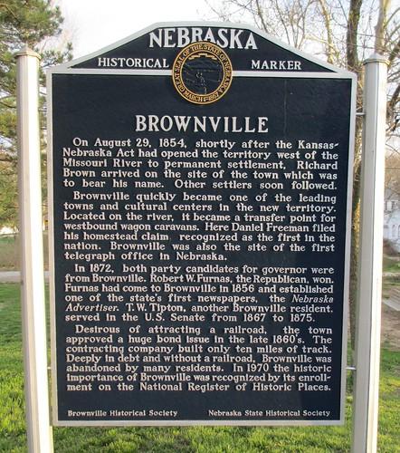 Brownville Marker (Brownville, Nebraska)
