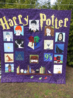 Harry Potter Quilt top Done!