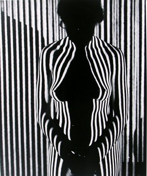 Martin H. Miller - Nude with Zebra Pattern