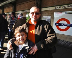 East Putney Tube Station - Feb 2013 - Helpful Chelsea Fans