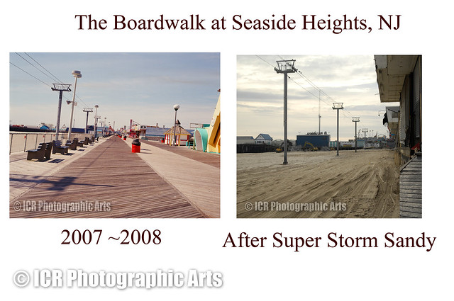 the boardwalk at seaside heights nj before and after