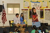 Jason and Amanda Dufner visit Yarbrough Elementary School in Auburn.