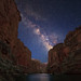 "Milky Way from the bottom of the Grand Canyon by IronRodArt - Royce Bair (""Star Shooter"")"