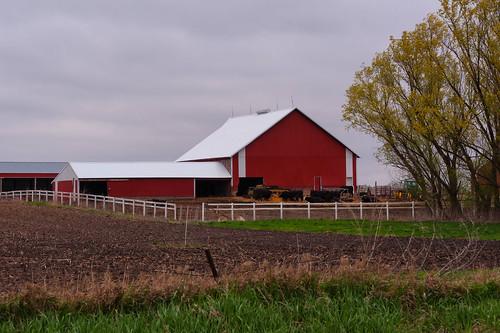 Rural Nevada Red Barn
