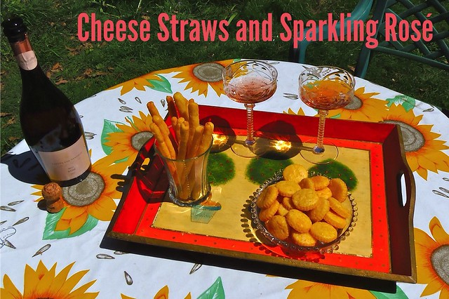 Gluten-Free Cheese Straws and Sparkling Rosé