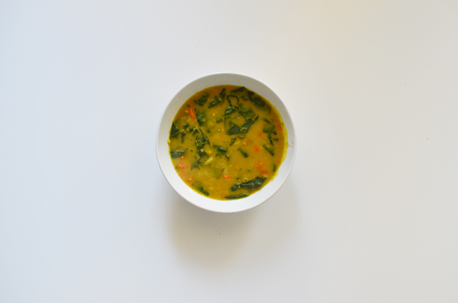 curried split peas soup