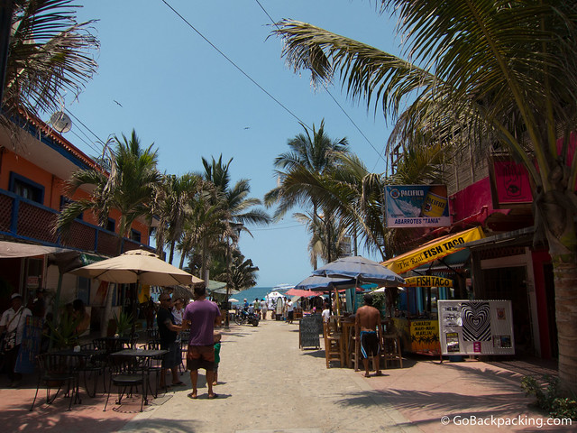 Approaching the beach in Sayulita, Mexico