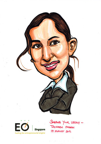 MissTasneen Padiath caricature for EO Singapore