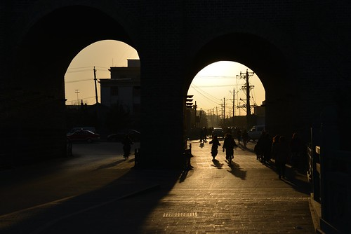 china sunset wall backlight nikon shadows shanxi datong contrejour chine coucherdesoleil muraille d800 ombres solangeb