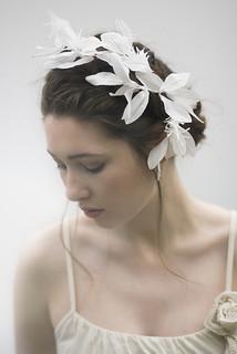 leaf bridal headpiece