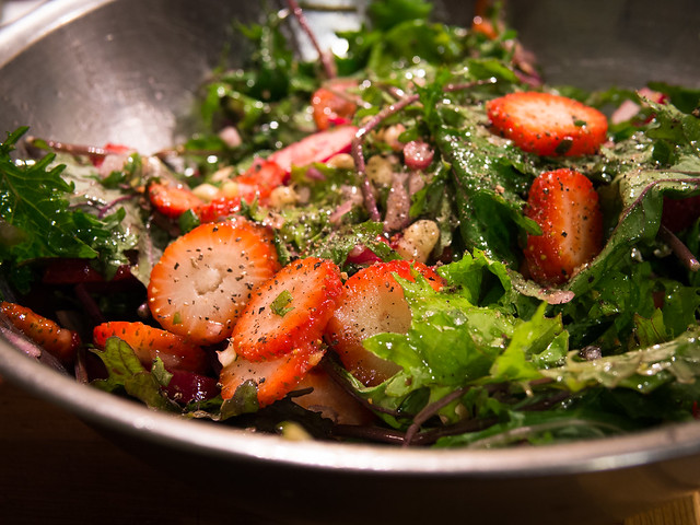 Rainbow Salad Recipe: Radish, Beets, Strawberries, Nuts and More... Strawberry Radish Kale Arugula