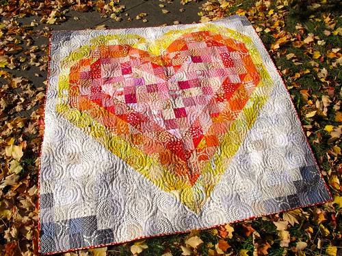 heart quilt front