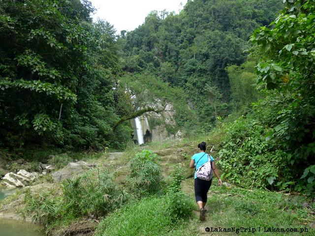 River trek to Dodiongan Falls. Iligan City, Lanao del Norte, Philippines