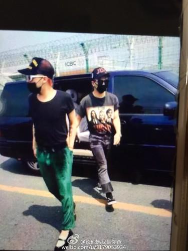 BIGBANG Arrival Dalian from Seoul 2015-06-26 157