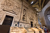Loreto,Italy - August 12, 2016: Interior of the Shrine of Loreto, Santuario della Madonna, detail of the Holy House of Our Lady