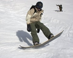 Jon landing a jump Image