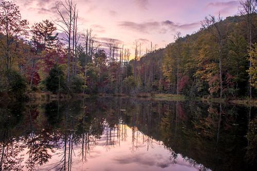 eastatoe lake transylvania transylvaniacounty northcarolina sunrise