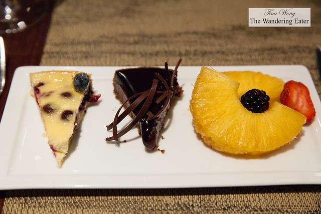 My companion's dessert plate