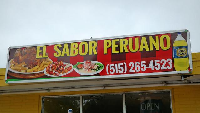 El Sabor Peruano Restaurant in Des Moines Iowa