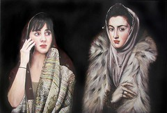 magali and a woman in a fur collar (after el greco): laara cassells