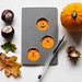 Halloween pumpkin Moleskine notebook by Heidi Burton / Making Strangers