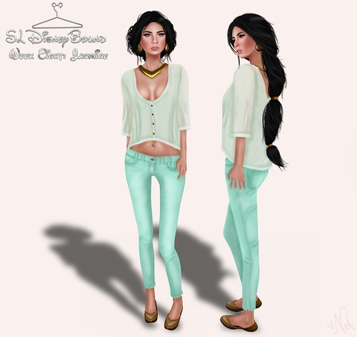 SL DisneyBound - ALADDIN & JASMINE ; ONE