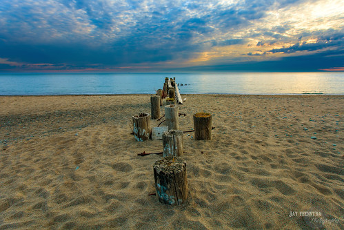 old morning blue sky lake ontario canada beach water clouds photoshop sunrise canon point landscape pier spring sand hamilton wide conservation wideangle 5d 50 hdr highdynamicrange lightroom photomatix