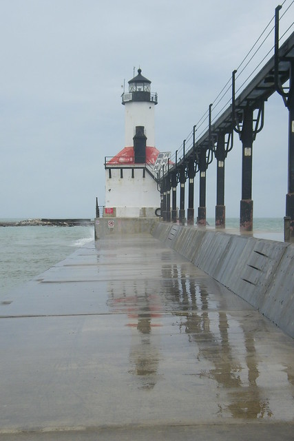 Michigan city pierhead lights on a windy day michigan city indiana flickr photo sharing for Olive garden michigan city indiana