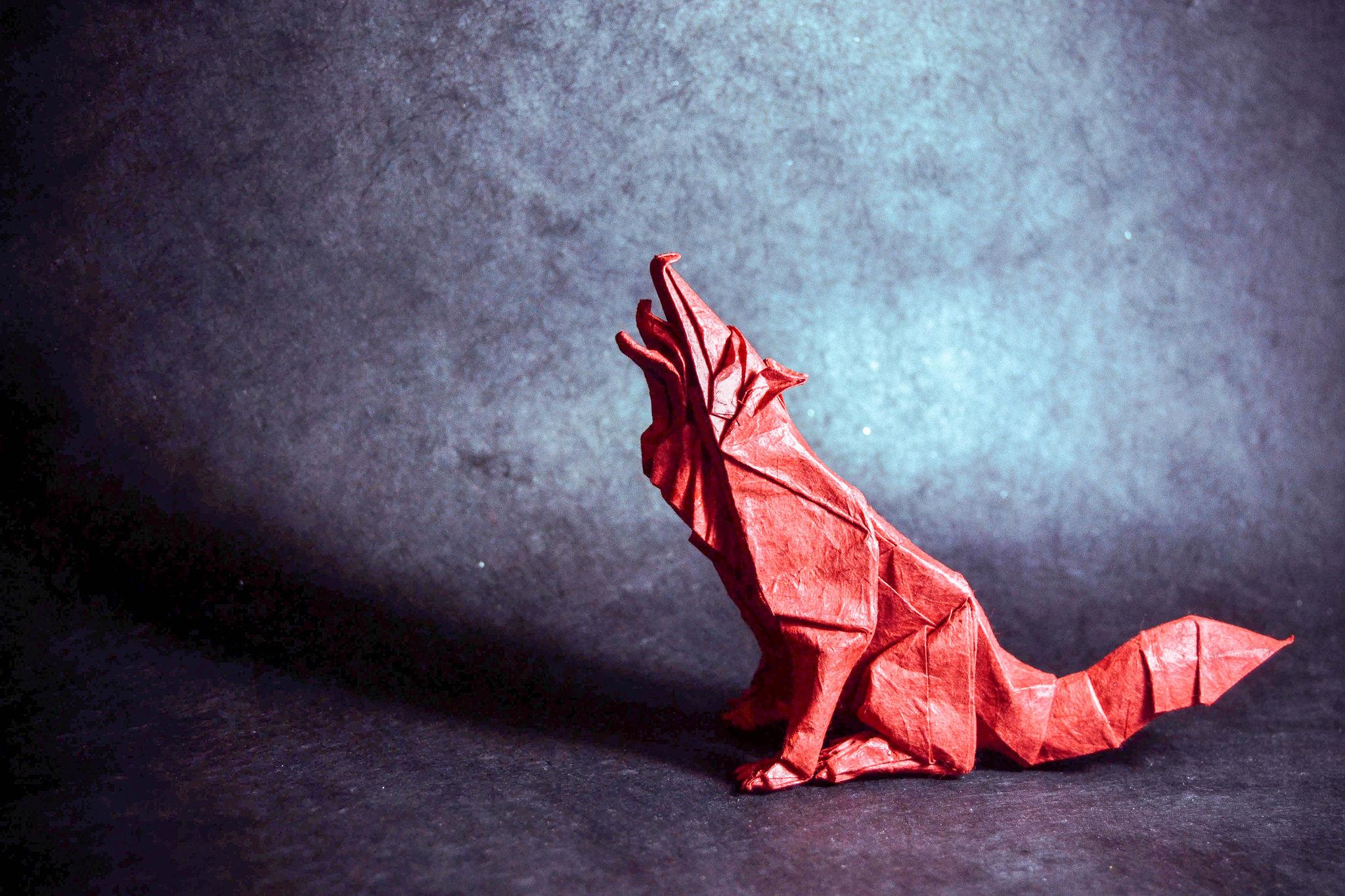Origami Grey Wolf - Quentin Trollip