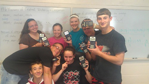 happy class with calculators
