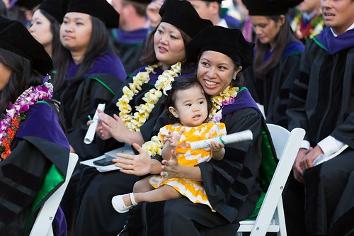 "<p>William S. Richardson School of Law graduate Eryn Leong and her 13-month old daughter Adelyn hold their certificates. The Law School has a unique keiki support program that embraces students who are also parents, and creates special certificates for the children who have been supportive of their parents through law school. May 12, 2013. (Photos by Mike Orbito)<br /> <br /> For more photos go to the <a href=""https://picasaweb.google.com/lawschoolphotos/20130512ToastAndCommencement?authuser=0&authkey=Gv1sRgCLySgIWT2rmxKg&feat=directlink"" rel=""nofollow""> School of Law's Picasa album</a></p>"
