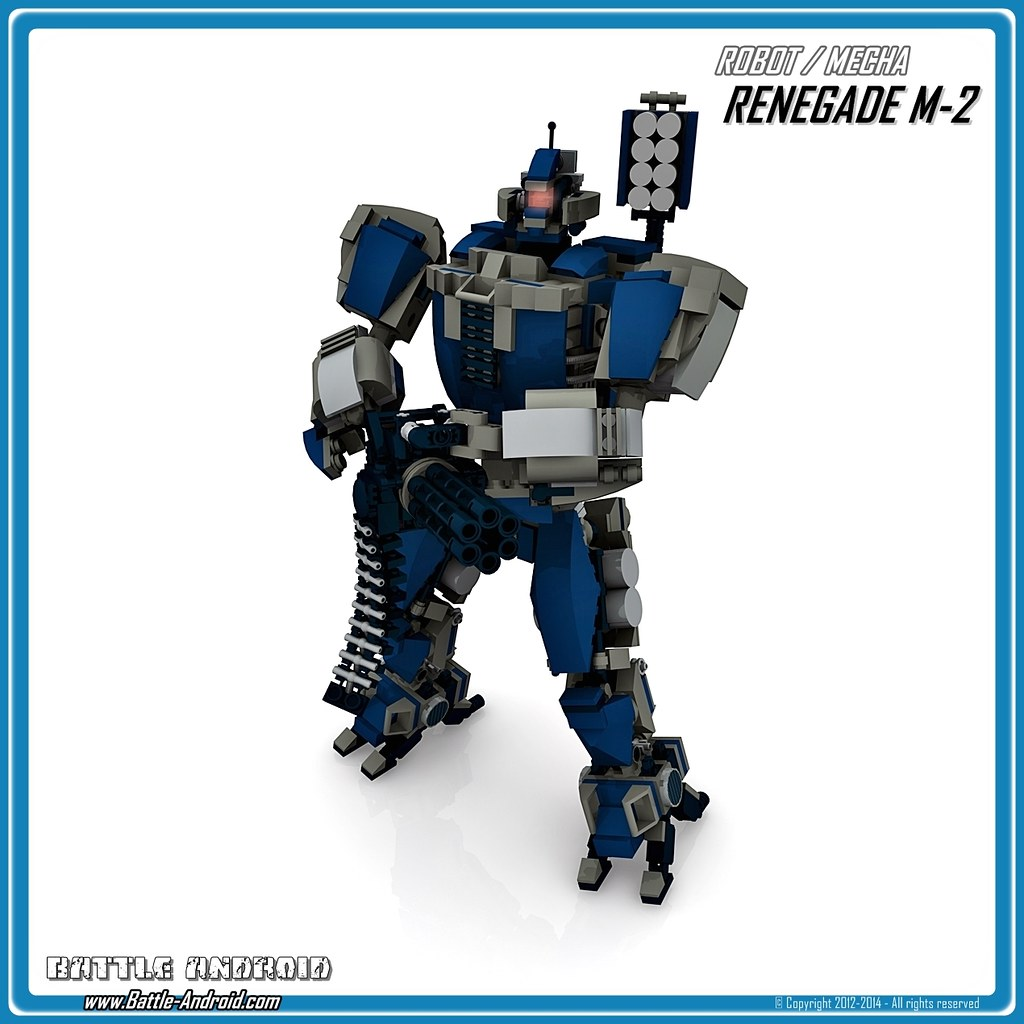 Battle Android Robot Renegade M2 Custom Lego Robot Mecha A