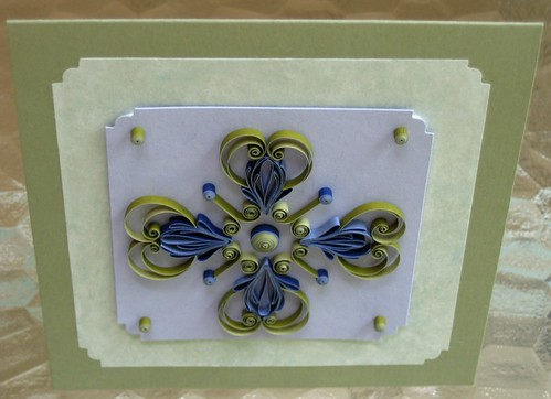 Quilled Celtic card