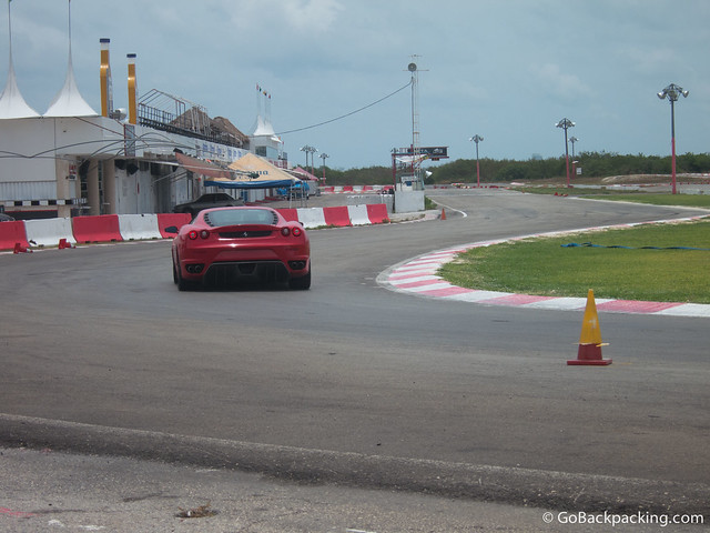 Drivers hit the gas coming out of this turn, as it leads into the track's longest straightaway