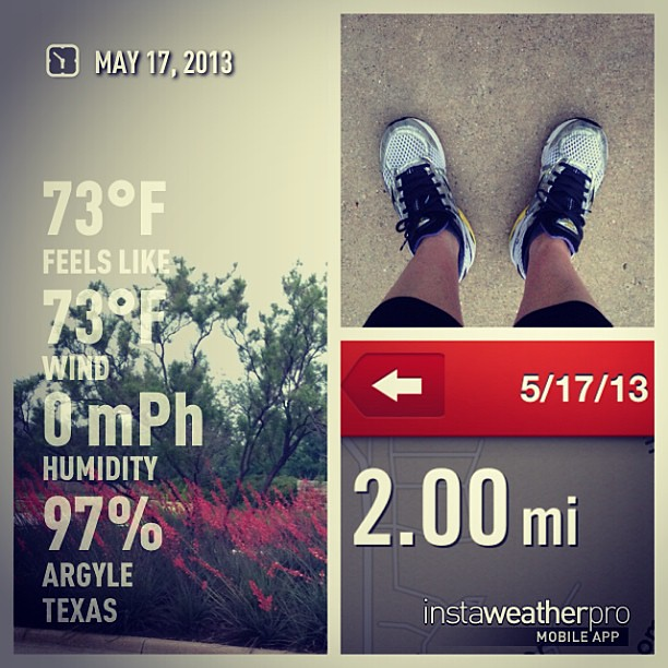 One last run. 97% humidity?  No thanks!  PDX here I come!