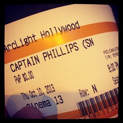 Sneak peek of #CaptainPhillips for free at @arclightcinemas... Might as well :) #myarclight #arclightcinemamember #perks