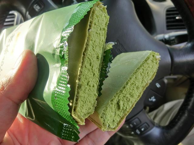 抹茶モナカ(green powdered tea Ice Cream )