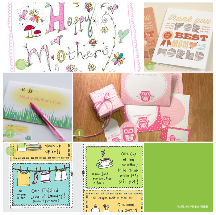 friday freebies 17 // mother's day