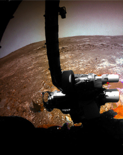 Opportunity sol 3296 Front Hazcam natural filter