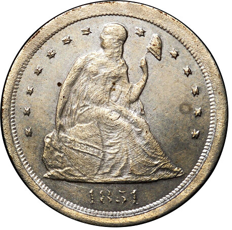 Liberty Seated Dime pattern obverse