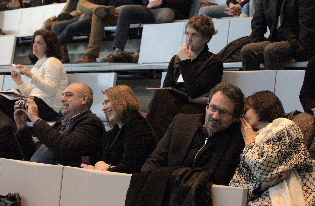 Architecture faculty and guests during the symposium.