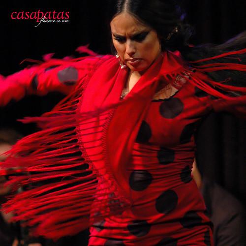 Belén López bailando en Casa Patas. Foto: Martín Guerrero