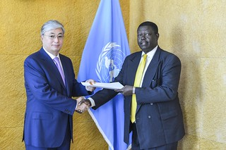 NEW PERMANENT REPRESENTATIVE OF UGANDA PRESENTS CREDENTIALS TO DIRECTOR-GENERAL OF UNITED NATIONS OFFICE AT GENEVA